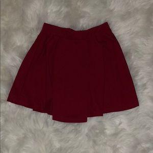Skirts - red skater skirt